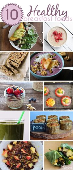 Breakfast is the most important meal of the day, and we say, why not make it the most enjoyable! These 10 morning power meals are not only easy to make, they are also delicious. Think overnight oats, green smoothies, iron-heavy veggie omelettes and baked eggs in tomatoes. Recipes here: http://www.ehow.com/list_5790648_top-10-healthy-breakfast-foods.html?utm_source=pinterest.com&utm_medium=referral&utm_content=curated&utm_campaign=fanpage