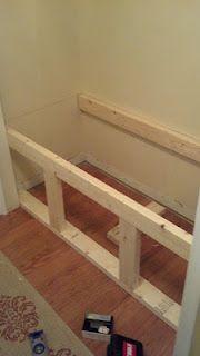 34 ideas coat closet organization diy benches for 2019 Closet Bench, Closet Nook, Hallway Closet, Closet Bedroom, Closet To Mudroom, Laundry Closet, Garage Closet, Reading Nook Closet, Garage Entry