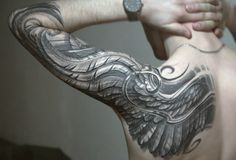 Shoulder and half-sleeve.  Variation on wing idea I think.