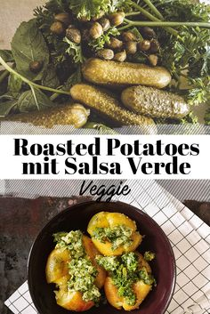 Roasted Potatoes mit Kräuter Salsa Verde