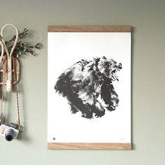 Brown Bear Print by by Teemu Järvi Illustrations from Finland #MONOQI