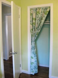 Small Space Storage Inspiration: Curtained Closets. Sliding Door CurtainsSliding  ...
