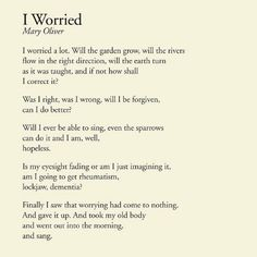 Yes...and just one of the reasons why I love Mary Oliver.