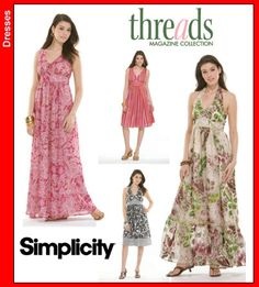 Simplicity 3803 Threads Day Gown