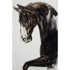 NOVICA Original Painting of Horse in Acrylics and Pastel (114675 ALL) ❤ liked on Polyvore featuring home, home decor, wall art, horses, paintings, expressionist paintings, acrylic portrait painting, animal paintings, horse portrait paintings and horse paintings