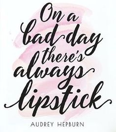 Lipstick can't fix all your problems but it's a good start! #HappyFriday