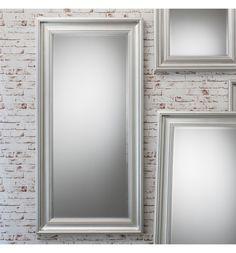 Bronte Full Length Silver Mirror 165 x 81 cm Bronte Silver Mirror 165 x Silver Framed Mirror, Mirrors, Oversized Mirror, Interior, Furniture, Beautiful, Bedroom, Home Decor, Ideas