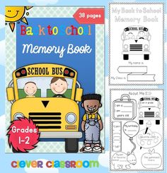 So many great ideas in this Back to School memory Book for 1st and 2nd graders.