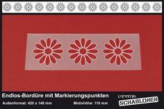 Schablone Bordüre Blüte Margerite - MB17 von Lunatik • Gestaltungs- und Geschenkideen auf DaWanda.com