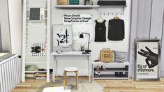 Sleek IKEA Office for The Sims 4