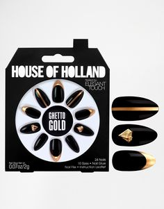 House Of Holland Nails By Elegant Touch - Ghetto Gold $17.04
