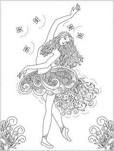 Nicoles Free Coloring Pages Ballerina Primavera Arte
