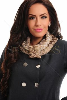 PrettyGirl Gallant Brown Knit Scarf