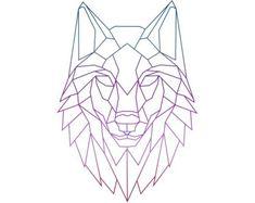 """Résultat de recherche d'images pour """"wolf geometric drawing"""""""