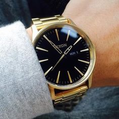 The Sentry SS | Men's Watches | Nixon Watches and Premium Accessories #black and #gold