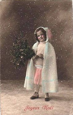 Little Girl in the Snow ~ Vintage Postcard | Flickr - Photo Sharing!