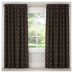 "Blackout Tamara Curtain Panel Black (50""x120""), Brown"