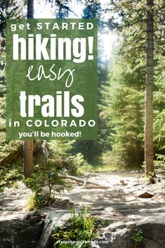 So many trails in Colorado to get you hooked on hiking. Some of our favorites beginner hikes that will have you longing to do more… - Easy Hiking Trails in Colorado's Beautiful Mountains Vail Colorado, Boulder Colorado, Colorado Hiking, Colorado Mountains, Colorado Springs, Colorado Vacations, Pikes Peak, Rocky Mountain National, National Forest