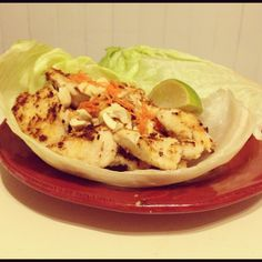 coconut lime chicken wraps