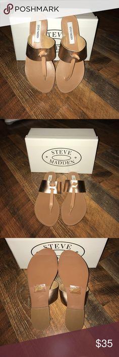 NIB Steve Madden Sandals Rose Gold sandals. New in box. Never worn Steve Madden Shoes Sandals