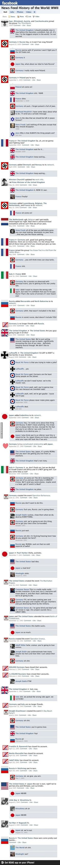 If WWII were on Facebook.  Hilarious!