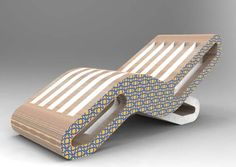 """2 Onde - Chaise Long"" by Giorgio Caporaso - LESSMORE® visit www.lessmore.it"