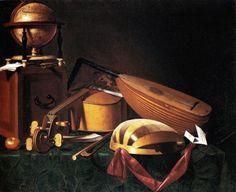 "Evaristo Baschenis, ""Musical instruments"", second half of the 17th century. www.italianways.com/evaristo-bascheniss-musical-silence/"