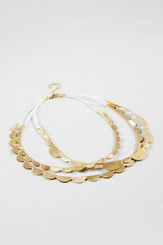 Tia Scalloped Gold Necklace