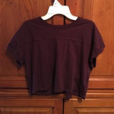 Cute deep purple crop top! Only worn once! Cropped deep purple top! Great condition! Cute for a top at the beach or with high waisted jeans! H&M Tops Crop Tops