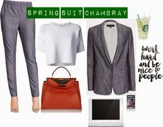 Wear Fashion Meets: Spring Suit Chambray