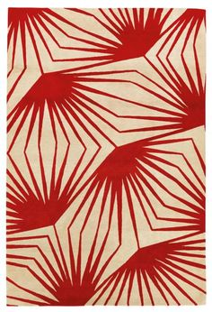 Carpet 'Stingray red', by Alexandra Champalimaud, for The Rug Company.