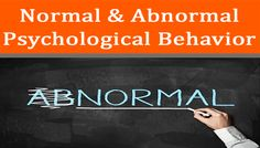 """Normal psychology is the study of human behavior, with a focus on """"normal"""" or average, socially-acceptable traits and behaviors. #reading #teaching #educational #website all king of #documents available on #ApnaNotes"""