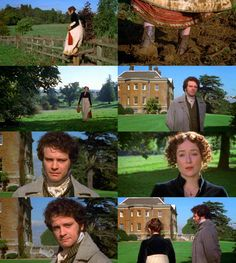 - Miss Bennet.    - Mr Darcy.    -I am come to enquire after my sister.    - On foot?    - As you see.Would you be so kind as to take me to her?