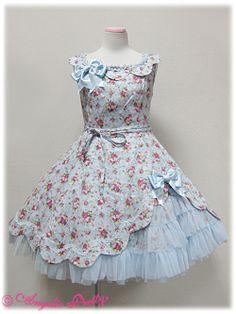 angelic pretty ロマンティックススカラップジャンパースカート