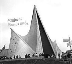 Expo + Philips Pavilion by architecture grand master Le Corbusier and Iannis Xenakis - ☮k☮ organic architecture reinforced concrete Architecture Design, Gothic Architecture, Amazing Architecture, Installation Architecture, Building Architecture, Chinese Architecture, Architecture Office, Futuristic Architecture, Art Installation