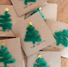 Pipe Cleaner Christmas Tree Cards from Crafty Morning || 15 Christmas Cards Kids Can Make! || Letters from Santa Holiday Blog!
