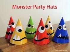 Party Hüte für die Monster Party!