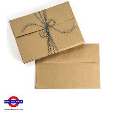 100  A7 size  Brown Bag Envelopes  Square flap  100 by MindtheWrap, $22.00