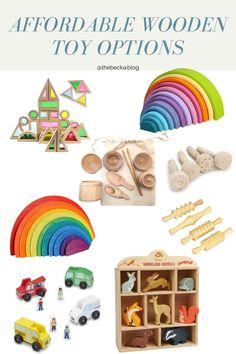 8 Ways to Not Go Totally Broke Buying Wooden Toys – The Becka Blog Christmas Presents For Babies, Baby Christmas Gifts, Holiday Gifts, Unique Baby Gifts, Imaginative Play, Gift List, Woodland Animals, Baby Toys, Wooden Toys