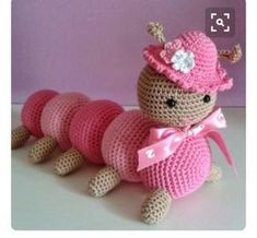 Tuto Amigurumi: La chenille - All about the hook and the - PATTERNS and tutoria. - Tuto Amigurumi: La chenille – All about the hook and the – PATTERNS and tutorials for the week - Crochet Geek, Crochet Stitches, Crochet Hats, Crochet Animals, Chenille, Crochet Toys Patterns, Stuffed Toys Patterns, Diy Crafts To Do, Amigurumi Doll