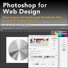 Lynda.com Photoshop for Web Design  تحميل دورة الفوتوشوب لتصميم المواقع من شركة ليندا العملاقة لفترة محدود باقي 5 ايام فقط !