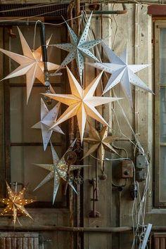 Paper star lamps.