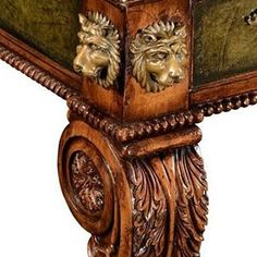 Perfect Classic Details!  https://englishgeorgianamerica.com/collections/desks-writing-tables/products/regency-mahogany-leather-top-desk #regency #desk #reproductions #antique #officefurniture #interiordesign #traditionaldecor