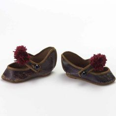 Antique Leather Doll Shoes Size 7