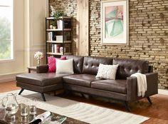 TOV Furniture Modern Blake Antique Chestnut LAF Sectional
