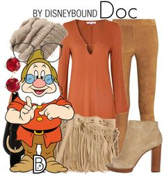 DisneyBound outfit inspired by Doc of Snow White and the Seven Dwarfs.