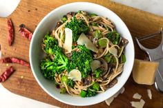Gluten-Free Spaghetti With Baby Broccoli, Mushrooms and Walnuts - I think Munch would really dig on this.