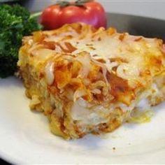 Cheese Lasagna Allrecipes.com