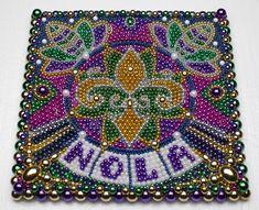 mardi gras bead art - Google Search
