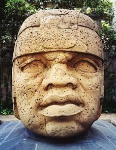 The aptly named Cabeza Colosal, a twenty-ton Olmec stone head, dominates the entrance of the anthropological museum in Xalapa.